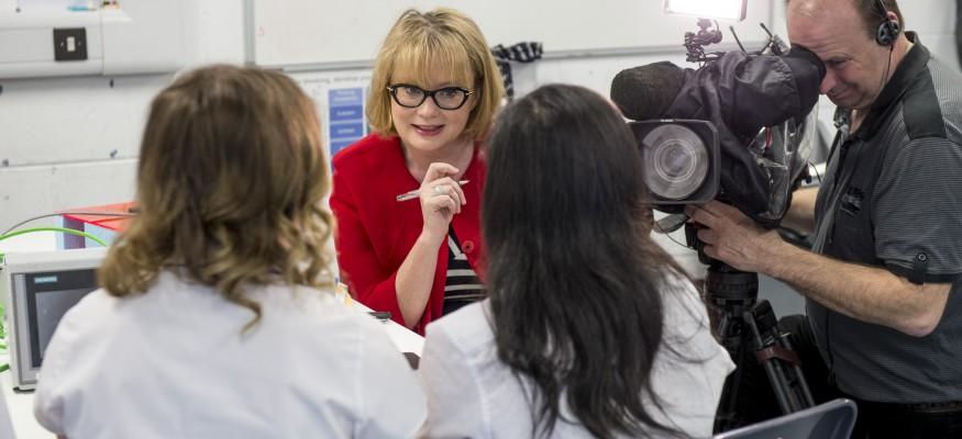 BBC Editor Branwen Jeffreys interviews UTC Sheffield students
