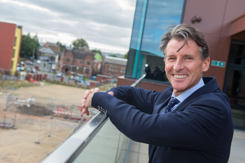 Seb Coe at the new UTC building at the Olympic Legacy Park at Don Valley in Sheffield