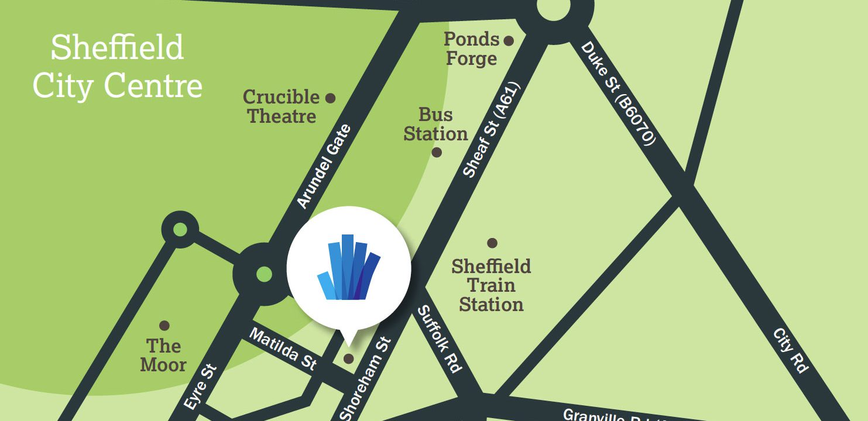 UTC Sheffield City Centre campus Map